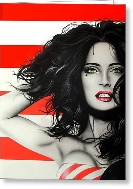 Selma Hayek - ' Candy Girl II ' Greeting Card by Christian Chapman Art