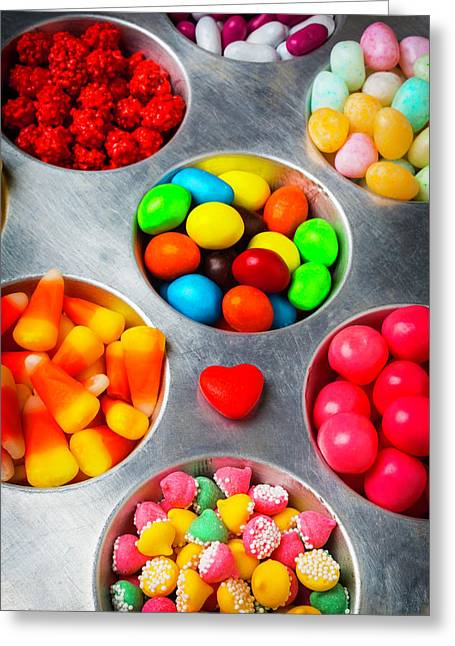 Candy Heart And Tray Greeting Card by Garry Gay