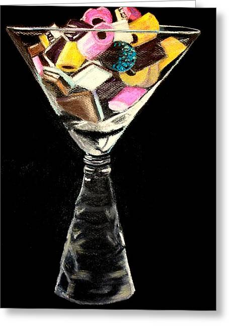 Candy In Glass  Greeting Card
