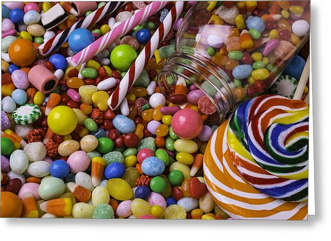 Candy Jar Greeting Card by Garry Gay
