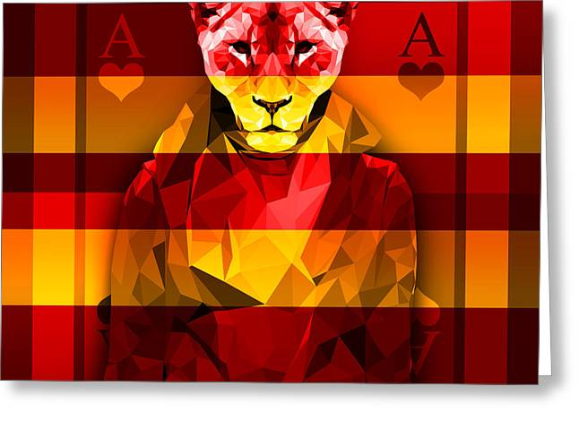 Candy Lioness Greeting Card by Gallini Design