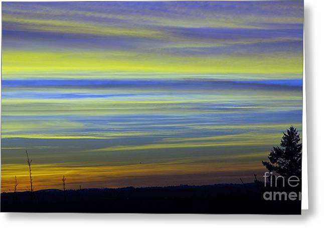 Greeting Card featuring the photograph Candy Sky 1 by Victor K