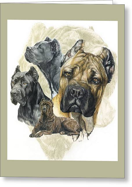 Cane Corso W/ghost Greeting Card by Barbara Keith