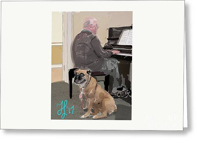 Canine Composition Greeting Card