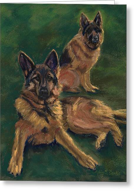 Canine Repose Greeting Card
