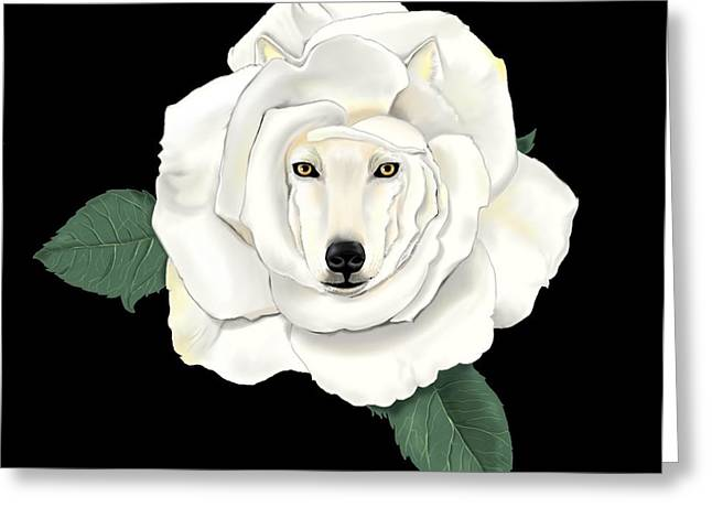 Canis Rosa Greeting Card