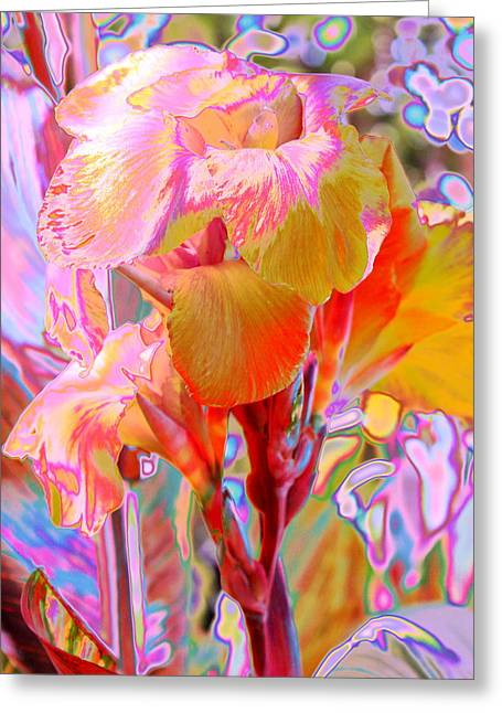 Canna Abstract 3 Greeting Card by M Diane Bonaparte