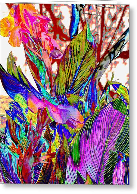 Canna Abstract Greeting Card