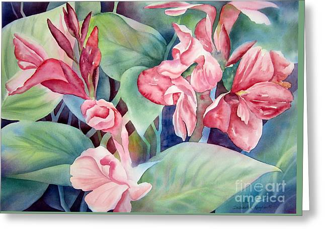 Canna Greeting Card by Deborah Ronglien