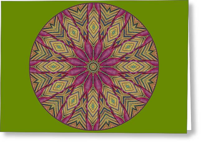 Canna Leaf - Mandala - Transparent Greeting Card