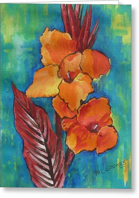 Canna Lillies. Greeting Card