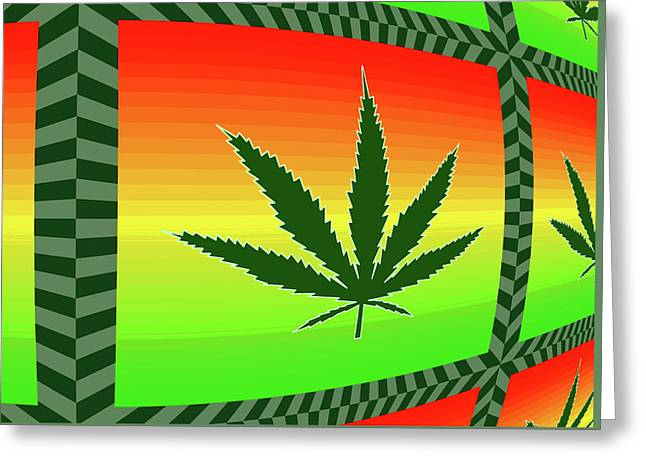 Greeting Card featuring the mixed media Cannabis  by Dan Sproul