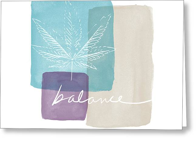 Cannabis Leaf Watercolor 3- Art By Linda Woods Greeting Card by Linda Woods