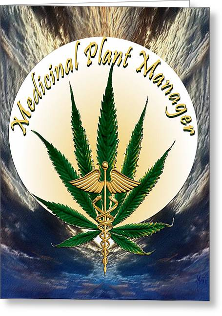 Cannabis Medicinal Plant Greeting Card