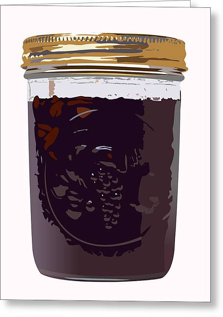 Canned Cherries Greeting Card by Robert Bissett