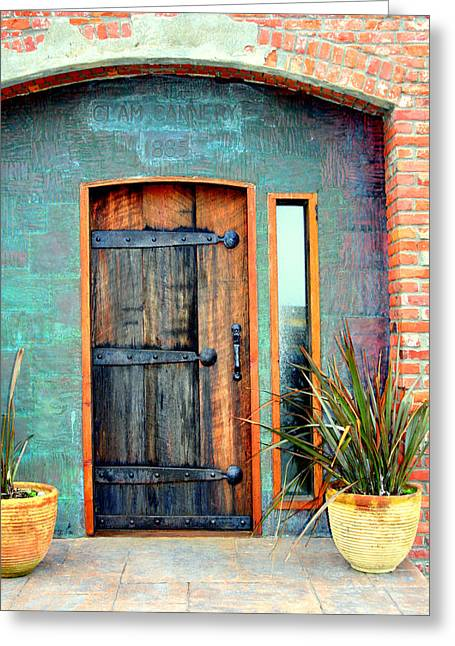 Cannery Door Greeting Card