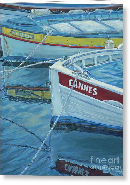 Cannes Boats Greeting Card by Danielle Perry