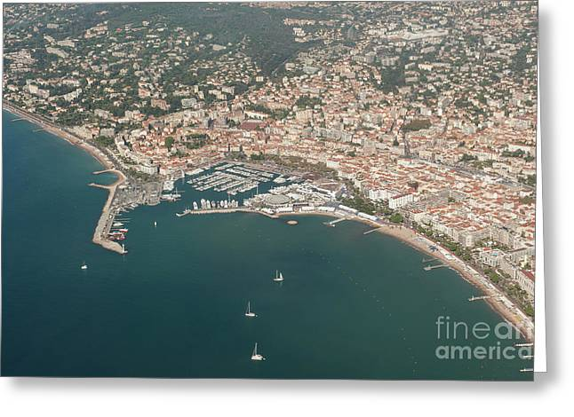 Cannes France Aerial View Of Le Vieux Port. Greeting Card