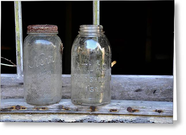 Mason Jars Greeting Cards - Canning Jars Greeting Card by Todd Hostetter