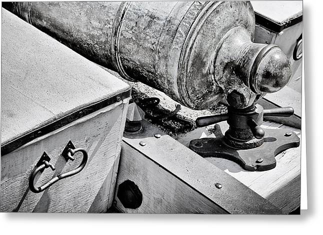 Cannon And Cassion Greeting Card by John Hoesly