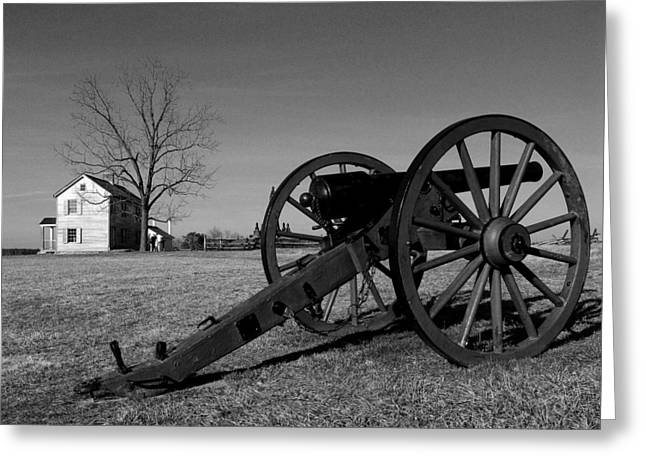 Artillery Gun Greeting Cards - Cannon and the Henry House I Greeting Card by Steven Ainsworth