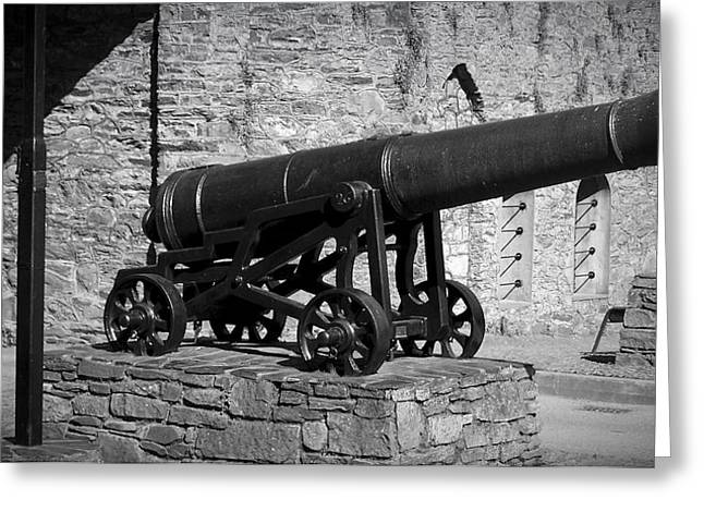 Arsenal Greeting Cards - Cannon at Macroom Castle Ireland Greeting Card by Teresa Mucha