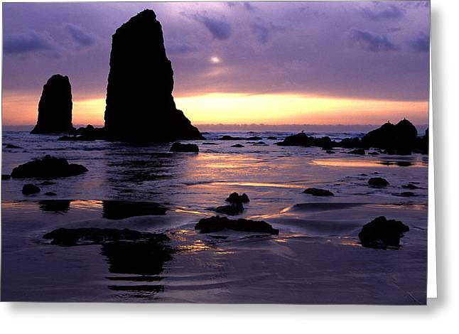 Cannon Beach Greeting Card by Eric Foltz