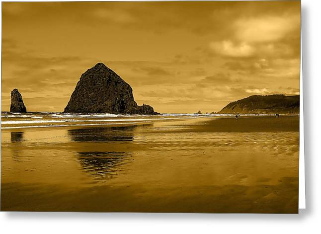 Cannon Beach Oregon Greeting Card by David Patterson