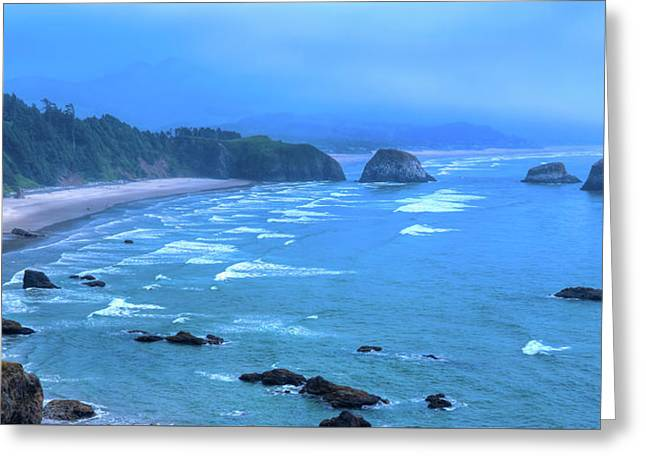 Cannon Beach Panorama Greeting Card by David Patterson