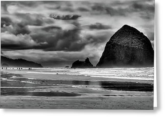 Cannon Beach Panorama II Greeting Card by David Patterson