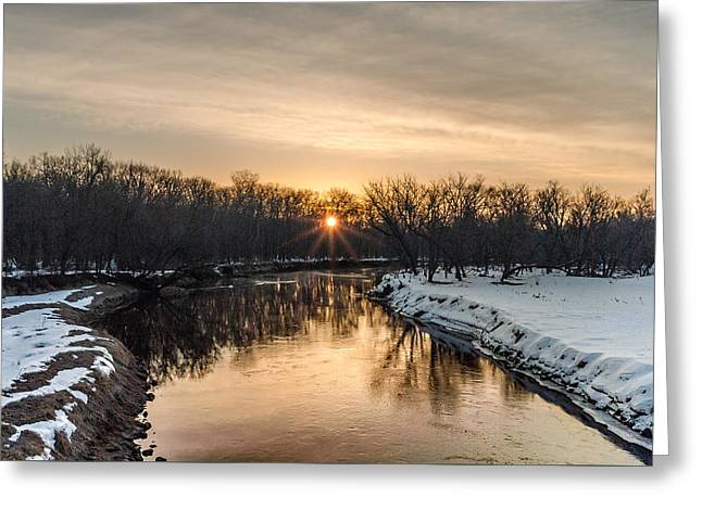 Cannon River Sunrise Greeting Card by Dan Traun