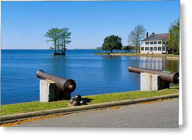 Cannons And Barker House From 1762 Greeting Card by Panoramic Images