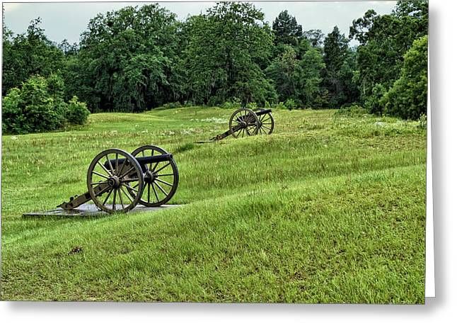 Cannons At Andersonville National Historic Site Greeting Card