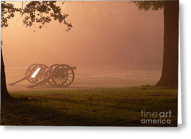 Cannons In The Fog Greeting Card by David Bearden