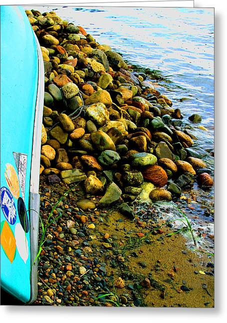 Canoe  And  Shore -  1 Greeting Card