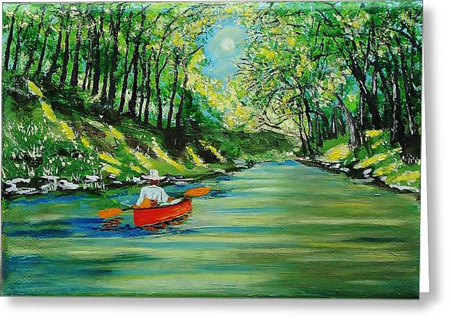Canoe Cruising Greeting Card