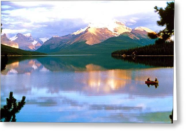 Canoe On Malign Lake Greeting Card