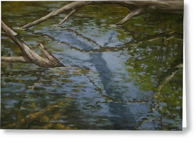 Canoe Painting 1 Greeting Card
