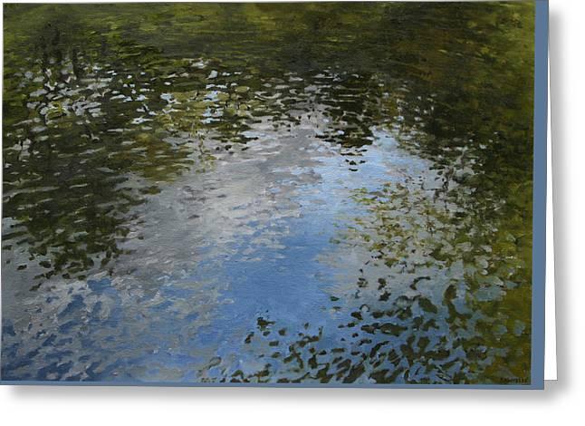 Canoe Painting 5 Greeting Card by Jason Sawtelle