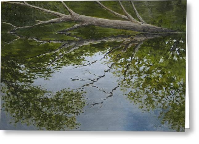 Canoe Painting 6 Greeting Card