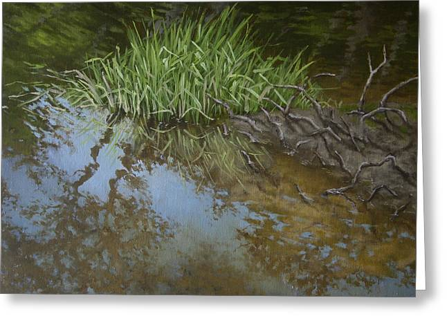 Canoe Painting 7 Greeting Card by Jason Sawtelle