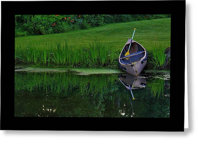 Canoe Reflection Greeting Card