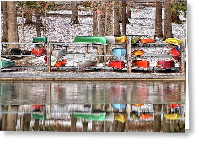 Canoe Reflections Greeting Card
