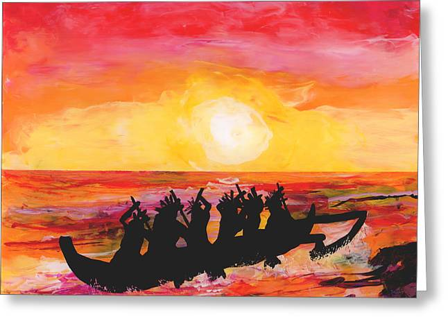Canoe Ride Greeting Card