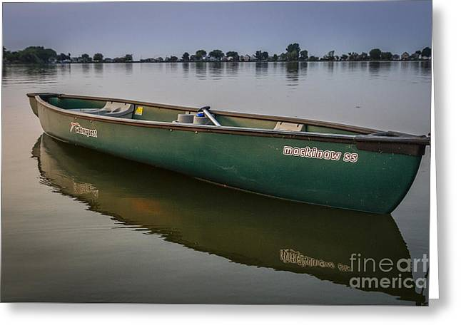 Canoe Stillness Greeting Card