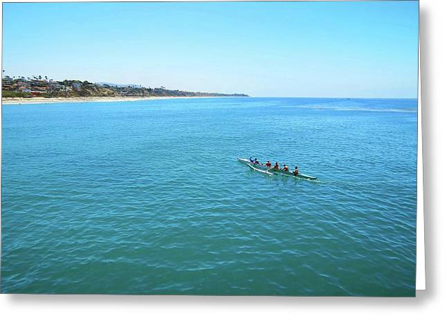 Canoeing On The Pacific Greeting Card by Connor Beekman