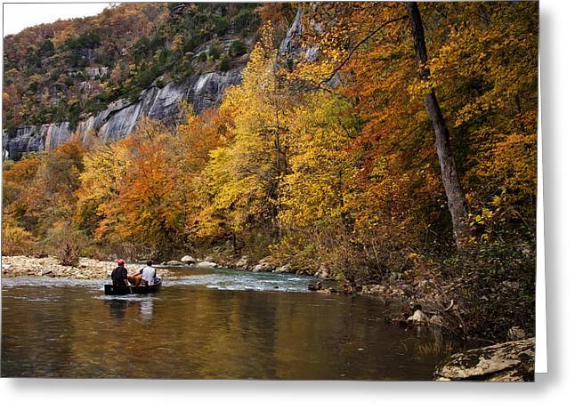 Canoeing The Buffalo River At Steel Creek Greeting Card