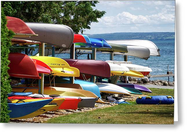 Canoes In Many Colors 02 Greeting Card by Thomas Woolworth