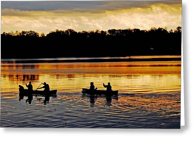 Canoes On The Potomac River Greeting Card
