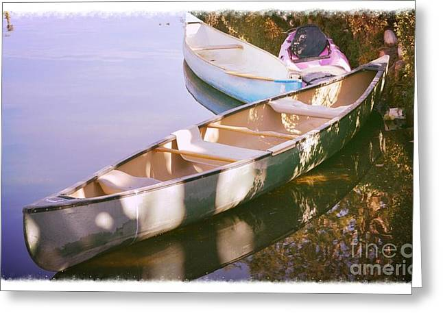 Canoes Greeting Card